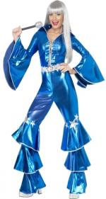 Disco Lady Dancing Dream Blau 70er Jahre -
