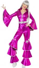 Disco Lady Dancing Dream Pink 70er Jahre -