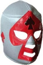 Lucha Libre Maske - Grey-black-red -