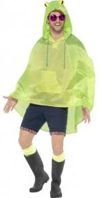 Party Poncho - Frosch - Masken