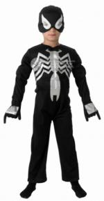 Schwarzes Spiderman Kinder Kostüm - Black Spiderman -